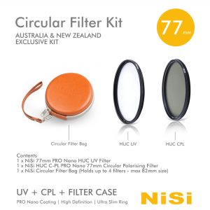 NiSi Circular Filter Kit with UV+CPL+ Filter Case